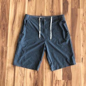 Abbot Main Hybrid Shorts- Gray Heather